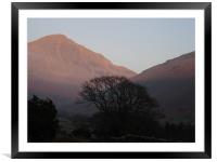 Lake District in Autumn, Framed Mounted Print