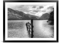 Brotherswater View b/w, Framed Mounted Print