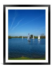 Yatchs, Framed Mounted Print