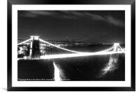 Clifton Suspension Bridge old look, Framed Mounted Print