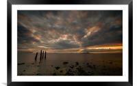Allonby sunset, Framed Mounted Print