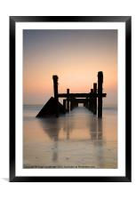 Happisburgh-sunrise, Framed Mounted Print