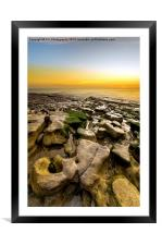 Whitburn sunrise , Framed Mounted Print
