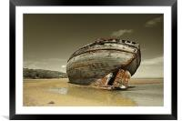 Dulas Bay shipwreck, Framed Mounted Print