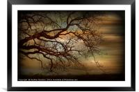 Storm Brew - Blagdon., Framed Mounted Print
