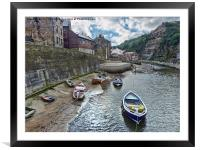Staithes Village, North Yorkshire, Framed Mounted Print