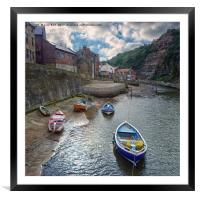 Staithes North Yorkshire, Framed Mounted Print