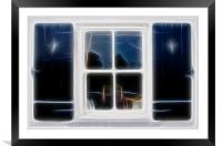A window, Framed Mounted Print