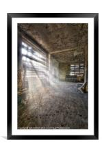 Urbex sun, Framed Mounted Print