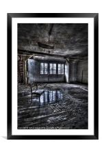 Ice chair, Framed Mounted Print