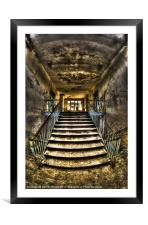 Forgotten stairs, Framed Mounted Print