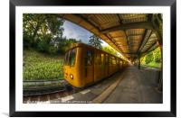 Summer eveing train., Framed Mounted Print