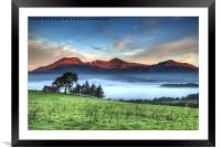 Moelwyn sunrise, Framed Mounted Print