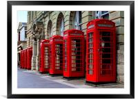 Big Red Boxes., Framed Mounted Print