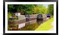 Cruising Down the River., Framed Mounted Print