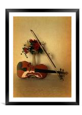A Violin for Christmas, Framed Mounted Print