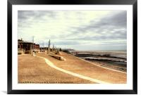 Cold Day on Cleveleys Promenade, Framed Mounted Print