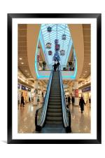 Shopping at the Mall, Framed Mounted Print