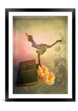 Wings on My Feet, Framed Mounted Print