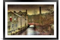 The Red Bridge., Framed Mounted Print