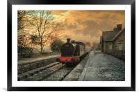 The Station at Hawes Yorkshire, Framed Mounted Print