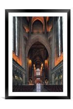 Liverpool Anglican Cathedral Uk, Framed Mounted Print