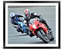 Racing at Knockhill, Framed Mounted Print