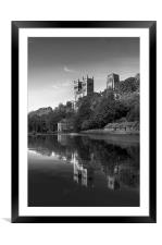 Cathedral reflection in black & white, Framed Mounted Print