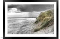 Passing Storm on Bamburgh Beach, Framed Mounted Print