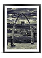 The Whale Jaw Bone Arch, Framed Mounted Print