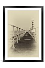 Amble Pier, Framed Mounted Print