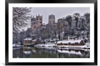 Durham Cathedral in Winter, Framed Mounted Print