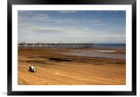 Picnic on the Beach, Framed Mounted Print