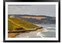 The View to Sandsend, Framed Mounted Print