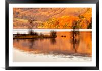 Autumn Reflections - Ullswater, Framed Mounted Print