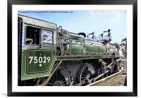 The Green Knight Locomotive, Framed Mounted Print