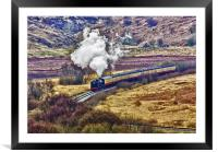 Smoke in the Valley, Framed Mounted Print