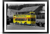 Whitby Tour Bus, Framed Mounted Print
