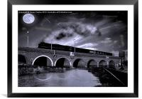The Night Train, Framed Mounted Print