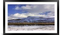 The Dales in Winter, Framed Mounted Print