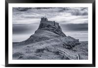 The Castle  Holy Island, Framed Mounted Print
