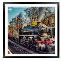 Steam on the Rails, Framed Mounted Print