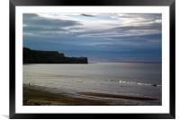 Evening at the Beach, Framed Mounted Print