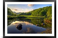 Golden Hour At Elterwater, Framed Mounted Print