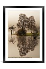 Reflections At Ullswater, Framed Mounted Print