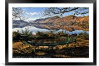 Derwentwater Bench Views, Framed Mounted Print