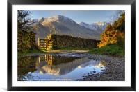Puddle Lane Little Langdale, Framed Mounted Print