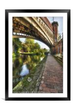 The Towpath, Framed Mounted Print