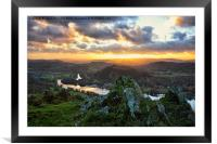 Sunset From Gummers How, Framed Mounted Print