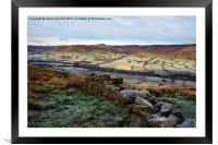 The Vale Of Edale, Framed Mounted Print